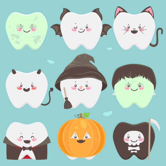 halloween tips for healthy teeth with braces